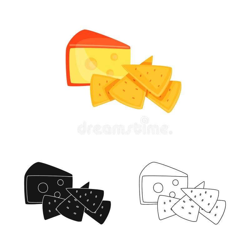 E Sammlung des Crackers und des Milchaktiensymbols f?r Netz vektor abbildung