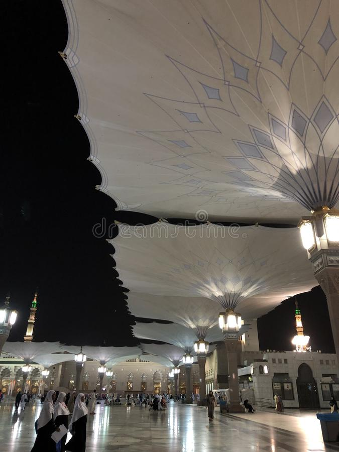 E Saudia Arabie r Al-Masjid An-Nabavi r photo prise sur 04 28 2019 photographie stock