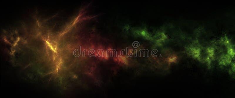 E Schoonheid van diepe ruimte vector illustratie