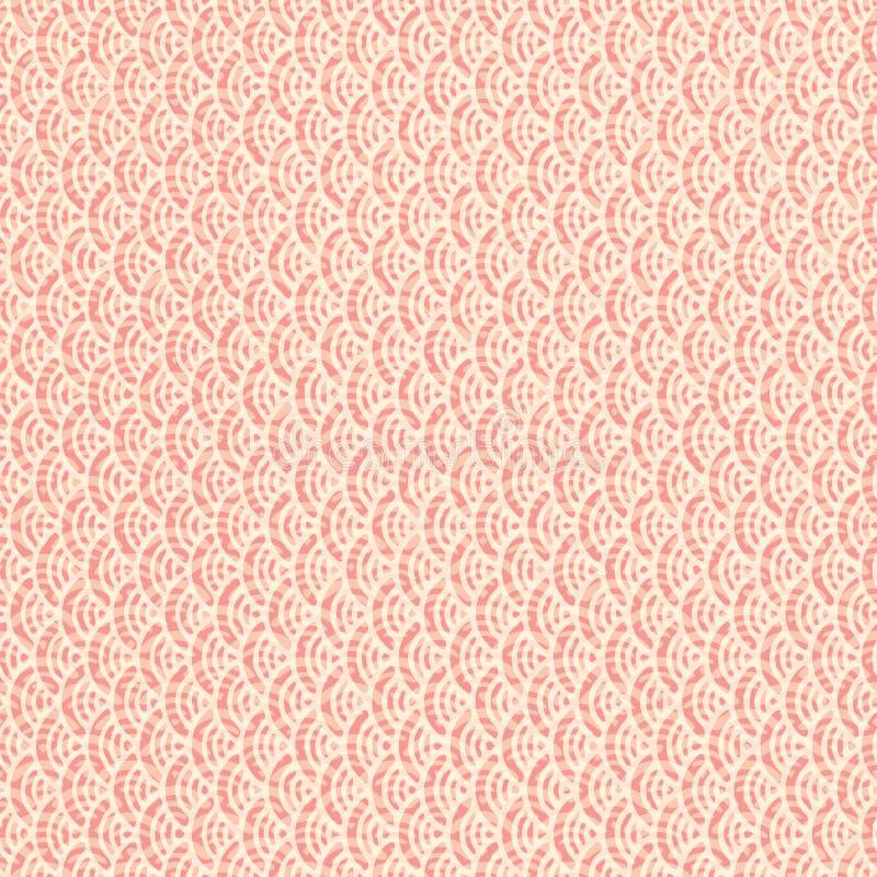 Картина безшовного конспекта ретро геометрическая Элементы круга в геометрических строках иллюстрация штока