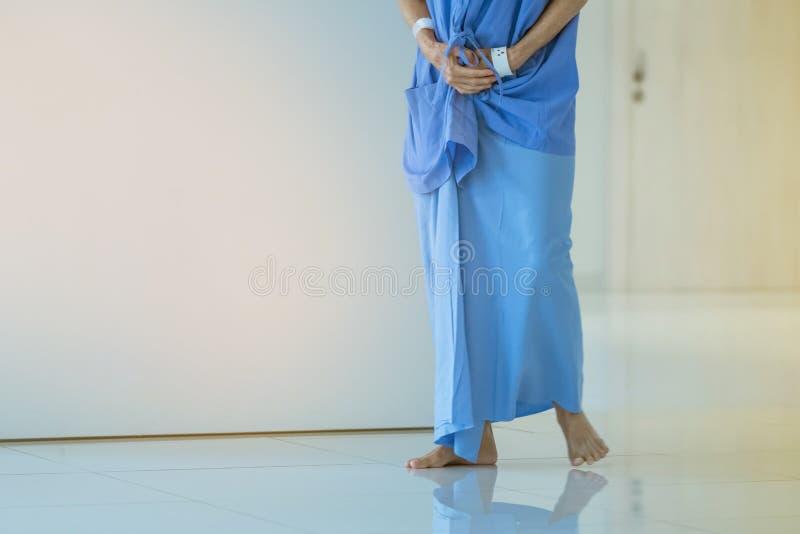 ?e?scy urinary obszaru pacjenci chodzi dla ?wiczenia i spoczynkowy samotnego fotografia royalty free