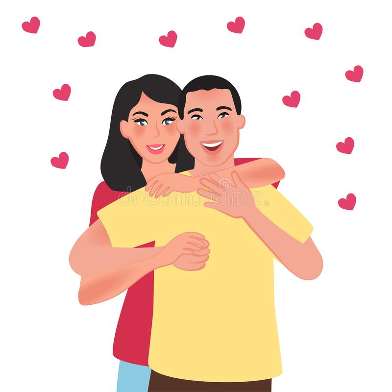 E Sensaciones y amor románticos Ilustración del vector libre illustration