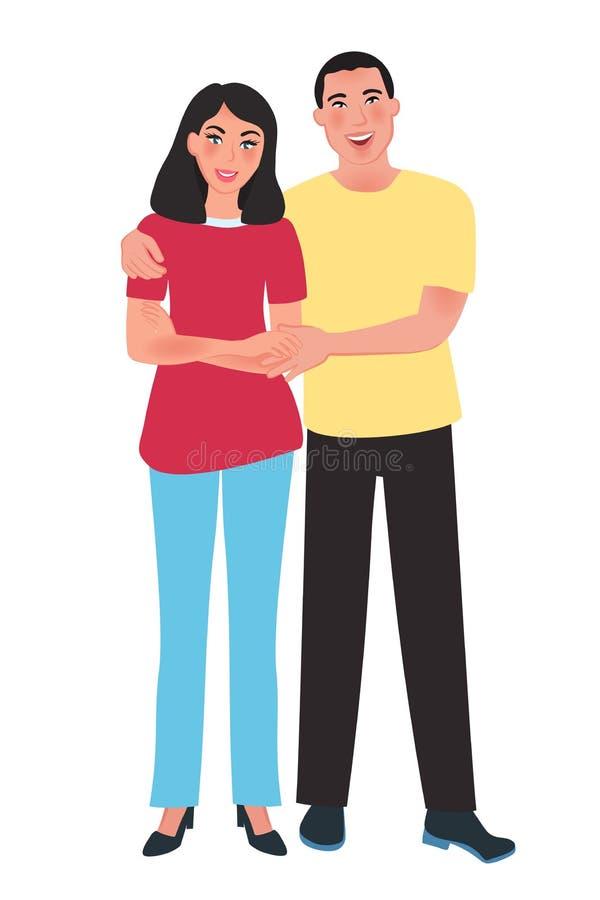 E Sensaciones y amor románticos Ilustración del vector ilustración del vector