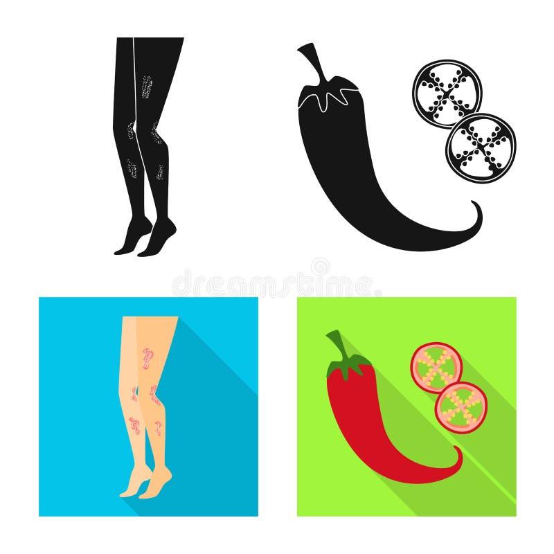 E Set medyczna i choroba wektorowa ikona dla zapasu ilustracja wektor