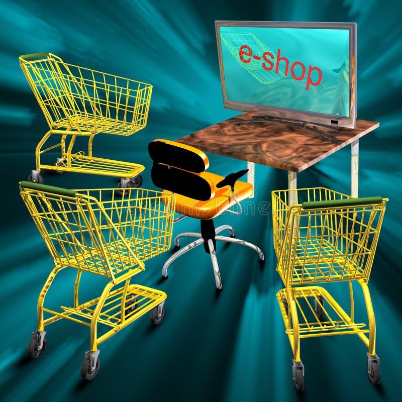 Download E-shop concept stock illustration. Illustration of monitor - 10108153