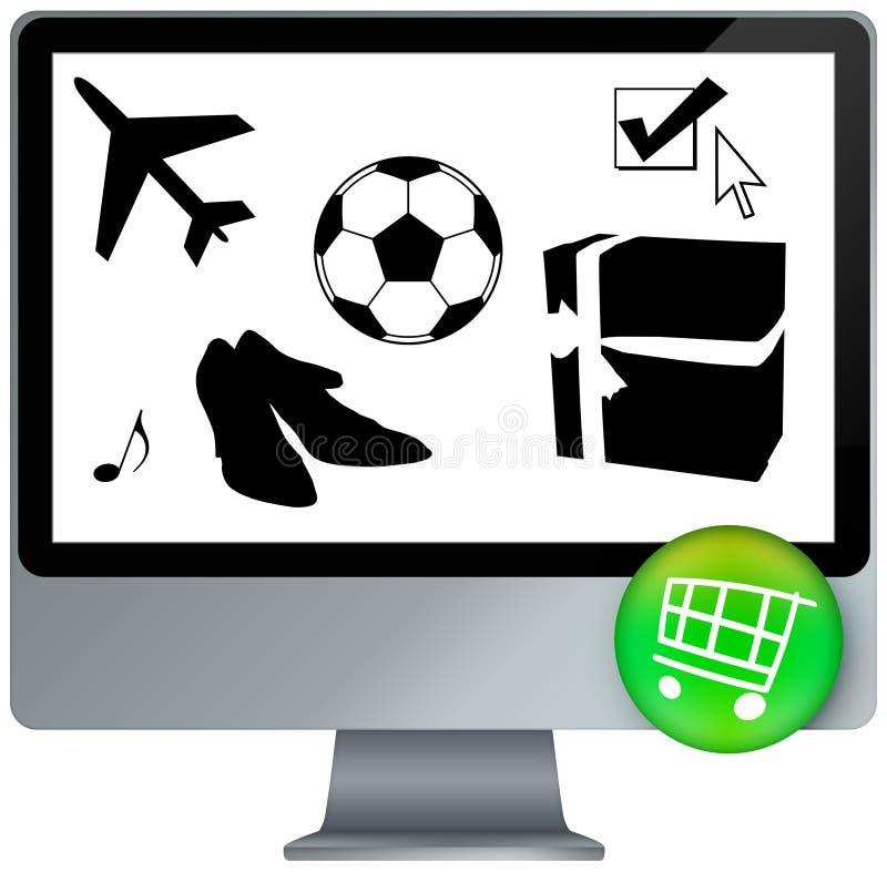 Download E-shopping cart stock illustration. Illustration of communicate - 10327607