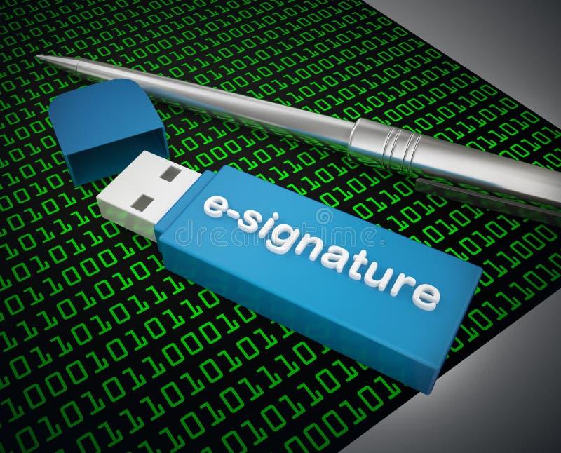E-signature photo stock