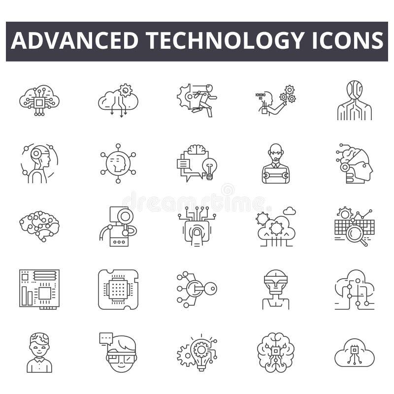 E Signes Editable de course r illustration stock