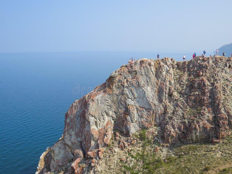 E Sikt av Lake Baikal royaltyfri bild