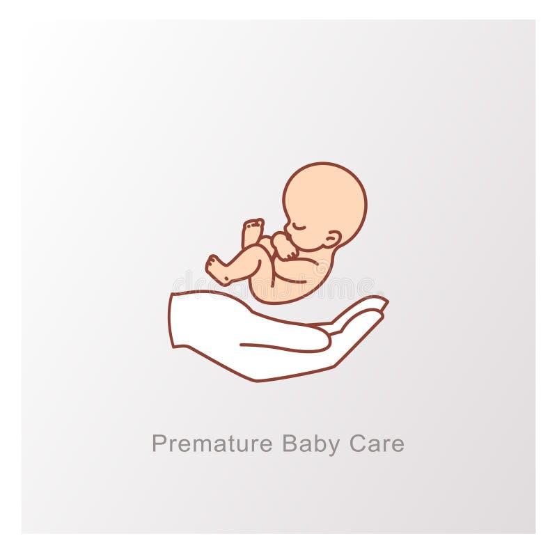 E Simbolo del feto illustrazione vettoriale