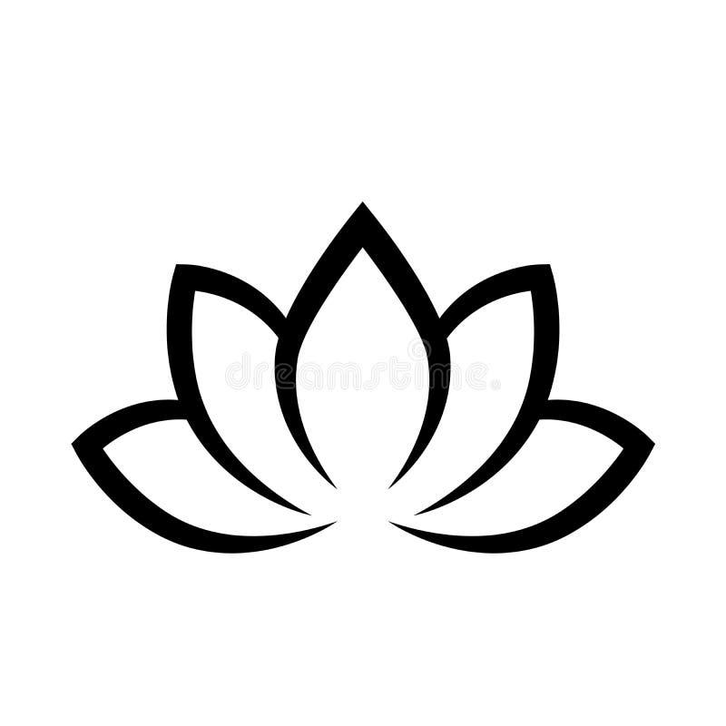 E Simbolo di yoga Illustrazione piana semplice di vettore illustrazione vettoriale