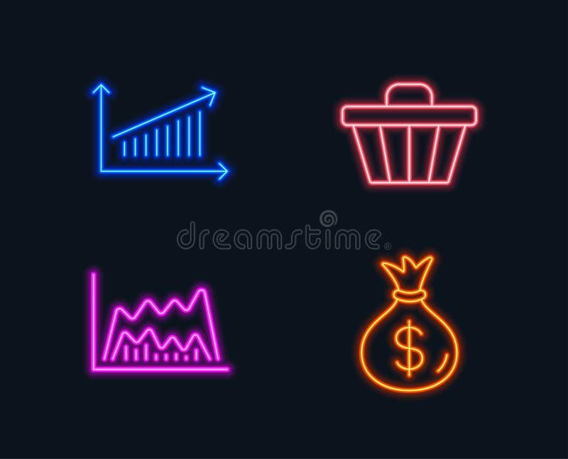 E Sinal do saco do dinheiro r ilustração do vetor