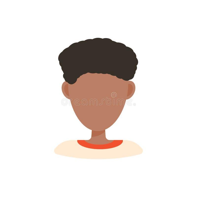 ?e?ska u?ytkownika avatar profilu obrazka ikona Odosobniona wektorowa ilustracja w p?askich projekta charakteru ludziach Afroamer ilustracji