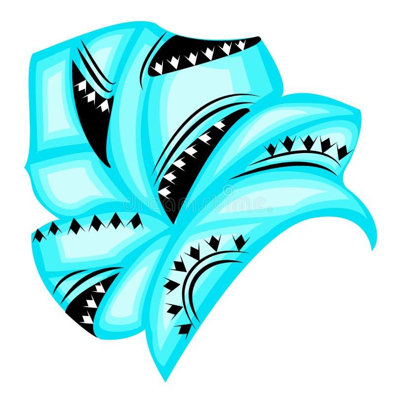 ?e?ski headpiece dla kobiety, turban Jaskrawy b??kitny trykotowy szalik Krajowy elegancki i pi?kny odziewamy r?wnie? zwr?ci? core ilustracja wektor