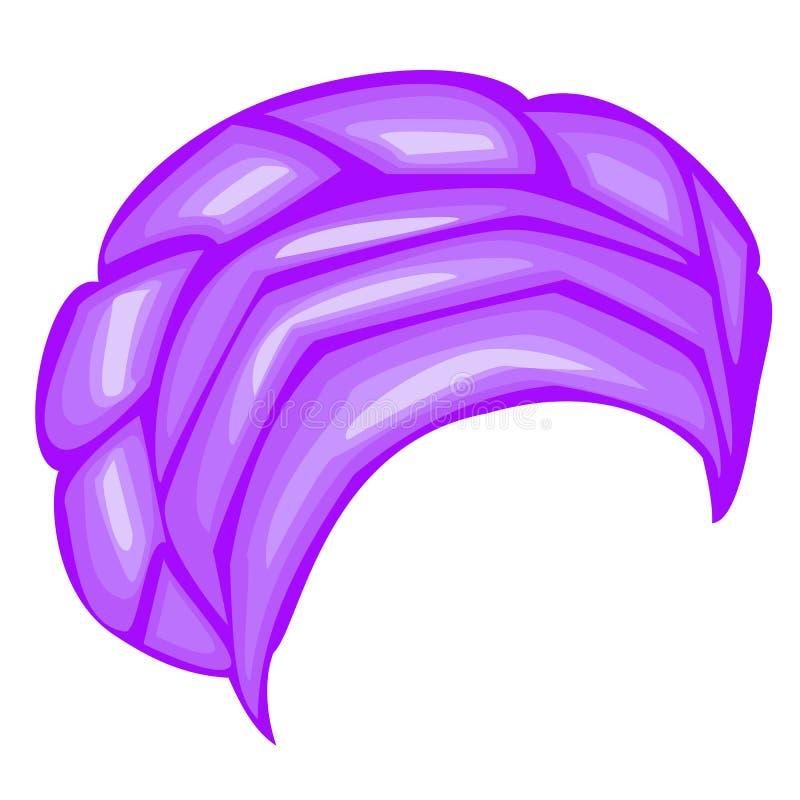 ?e?ski headpiece dla kobiety, turban Jaskrawy b??kitny trykotowy szalik Krajowy elegancki i pi?kny odziewamy r?wnie? zwr?ci? core royalty ilustracja