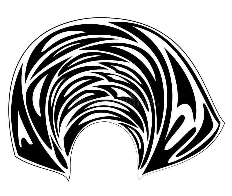 ?e?ski headpiece dla kobiety, turban Jaskrawy trykotowy szalik Odziewa jest pi?kny i elegancki Graficzny wizerunek r?wnie? zwr?ci ilustracji