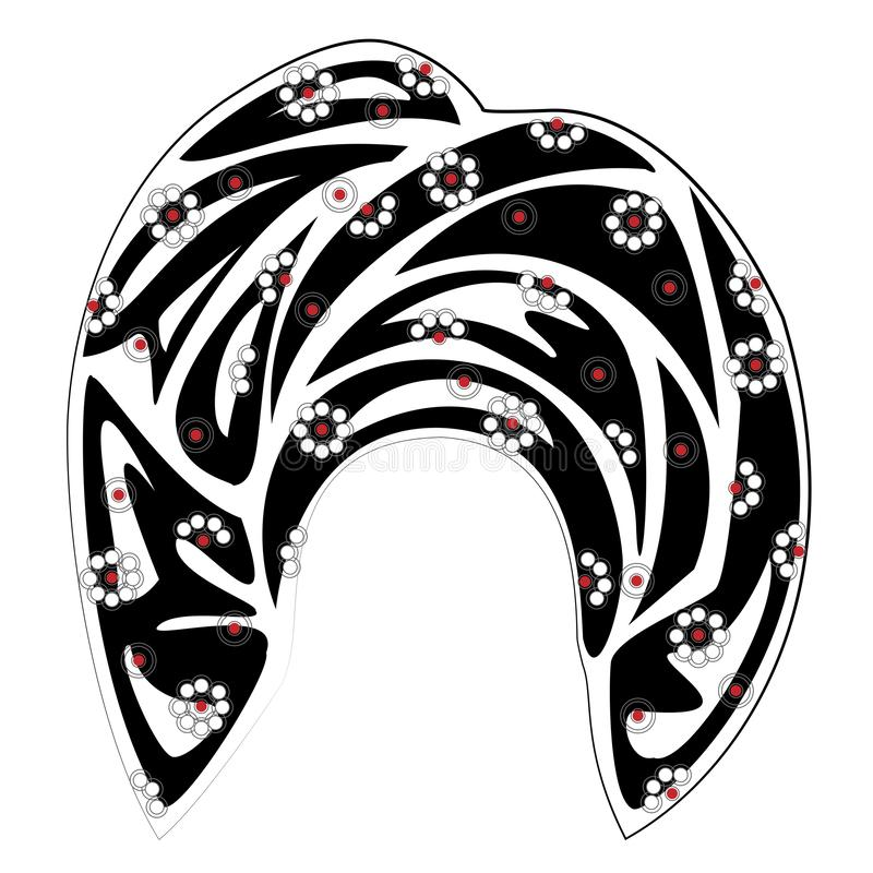 ?e?ski headpiece dla kobiety, turban Jaskrawy trykotowy szalik Odziewa jest pi?kny i elegancki Graficzny wizerunek r?wnie? zwr?ci royalty ilustracja