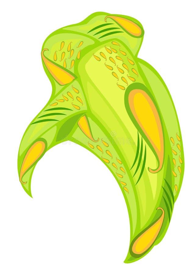 ?e?ski headpiece dla kobiety, turban Jaskrawy trykotowy zielony szalik Krajowy elegancki i pi?kny odziewamy r?wnie? zwr?ci? corel royalty ilustracja