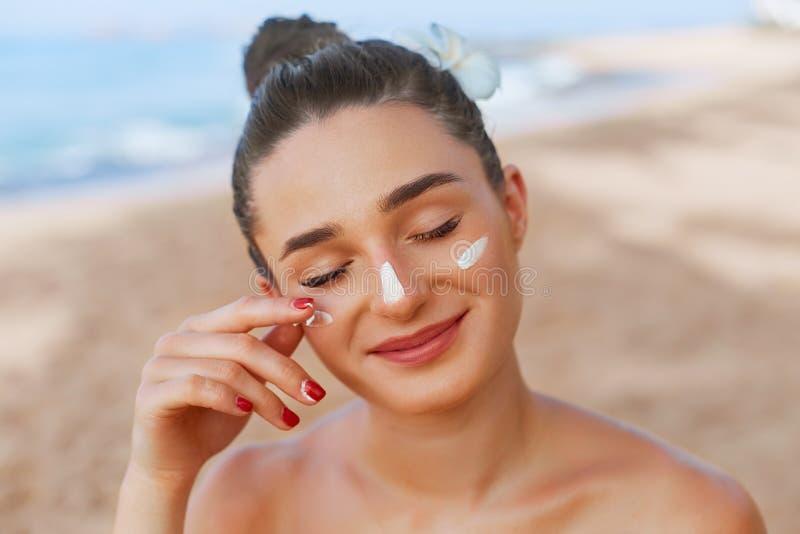 E Skincare 身体太阳保护 E 库存照片