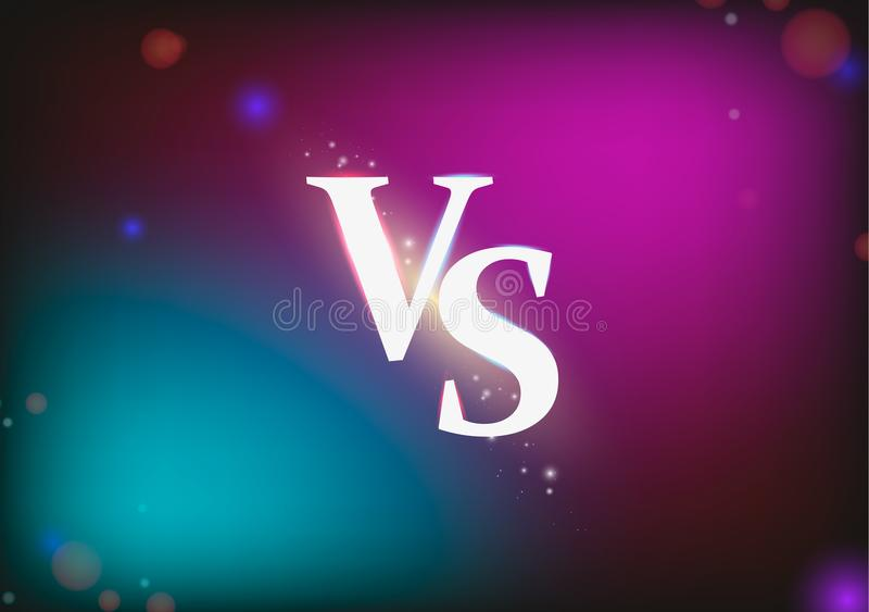 E Slag versus gelijke, spelconcept concurrerend versus Vector illustratie royalty-vrije illustratie
