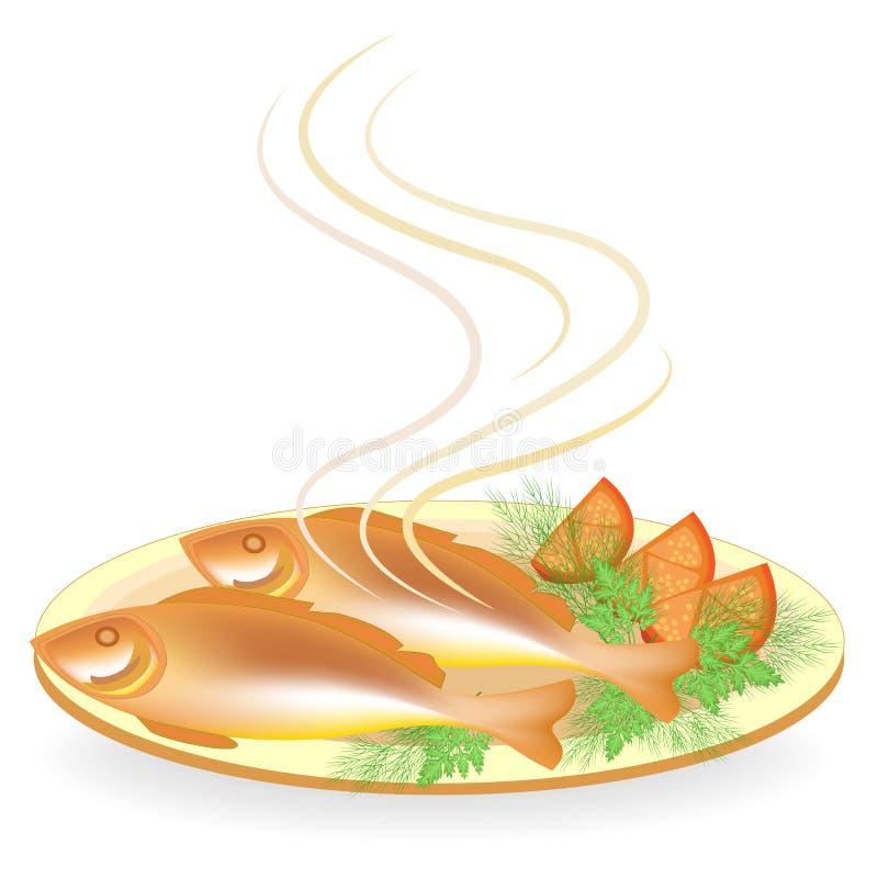 E Smakelijk en voedzaam voedsel r r stock illustratie
