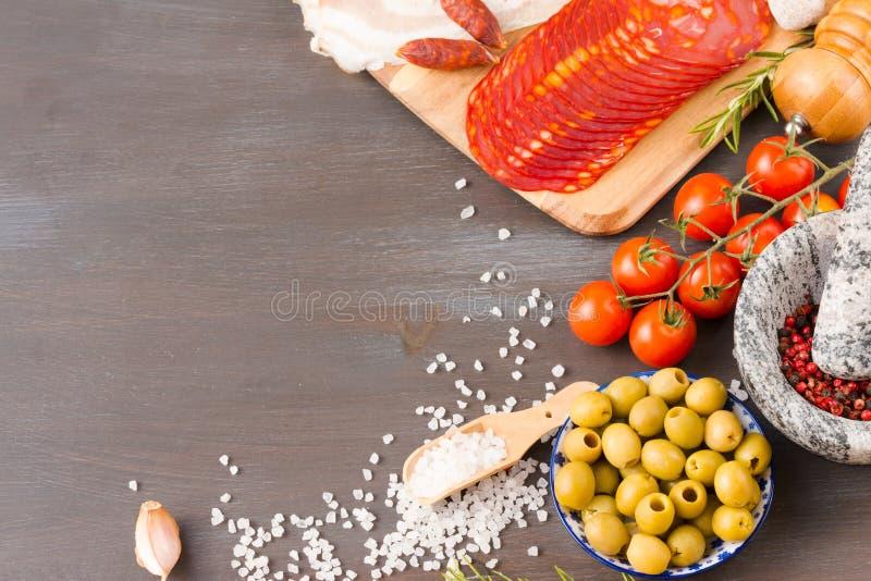 E Spanische Küche lizenzfreie stockfotografie