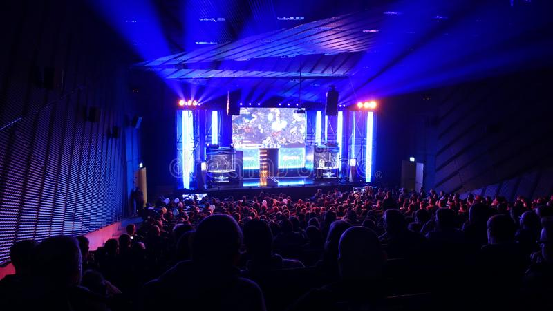 E-sport event in Katowice. stock photography