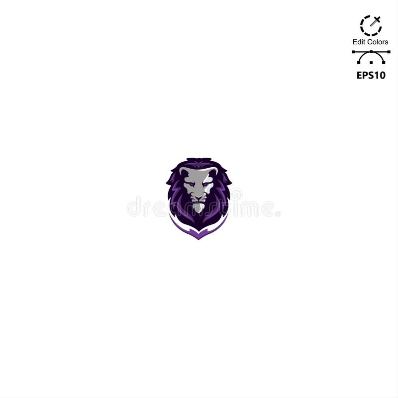 E sport logo head lions royalty free illustration
