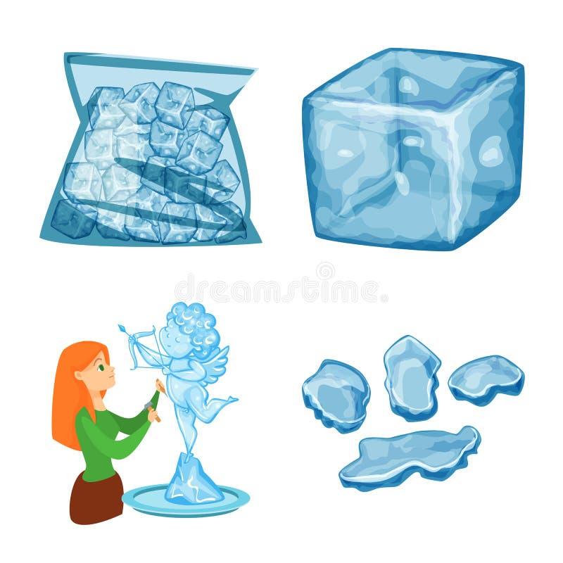 E St?ll in av frost och v?t materielvektorillustration vektor illustrationer