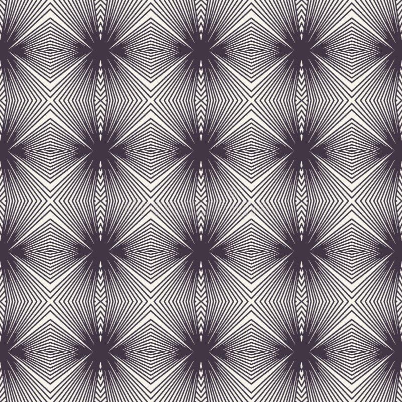 E Striped форма диаманта градиента Повторение геометрической предпосылки плитки Monochrome поверхностная ткань дизайна иллюстрация вектора