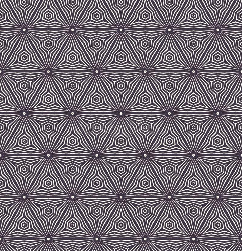 E Striped форма шестиугольника градиента Повторение геометрической предпосылки плитки Monochrome поверхностная ткань дизайна бесплатная иллюстрация