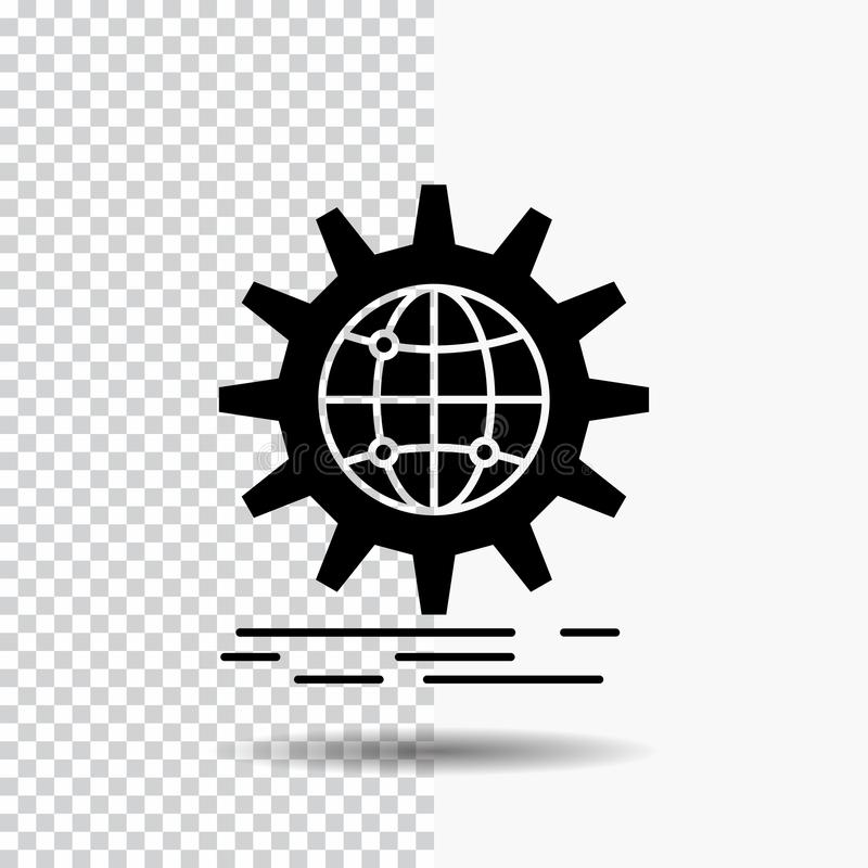 E Svart symbol stock illustrationer