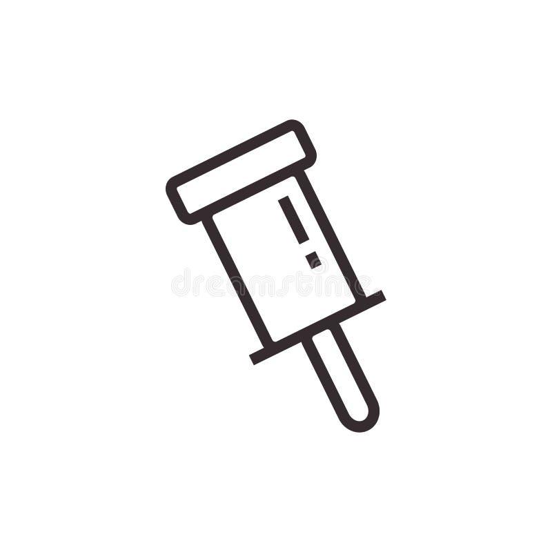 E Symbole de bureau photo stock