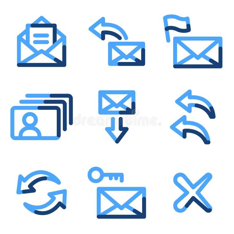e-symbolspost vektor illustrationer