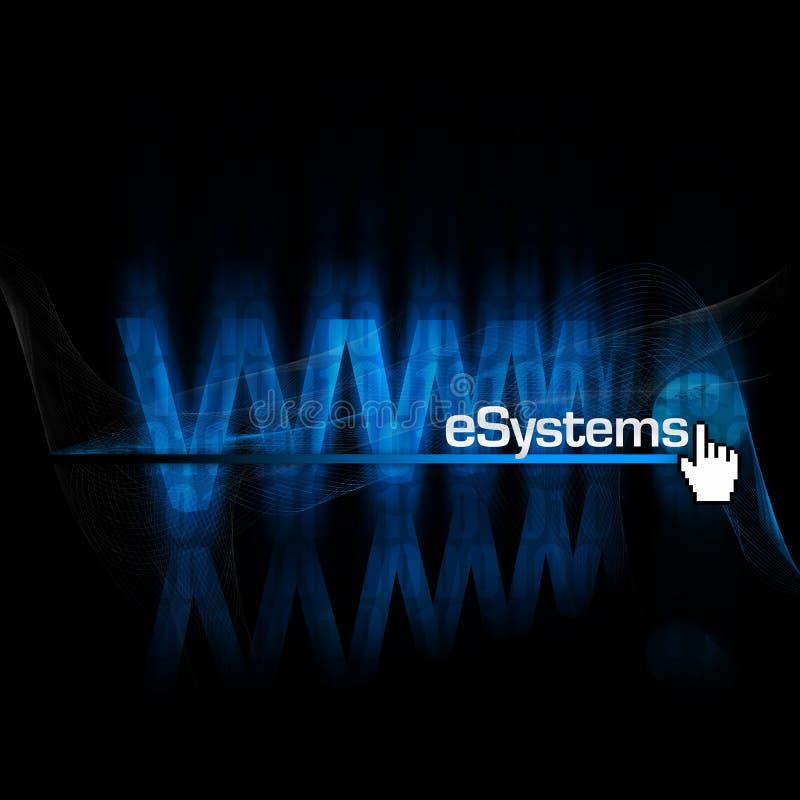 E-systemen stock illustratie