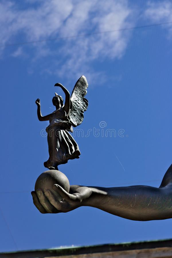 E Szczegół Canova rzeźba: Napoleon b zdjęcia stock