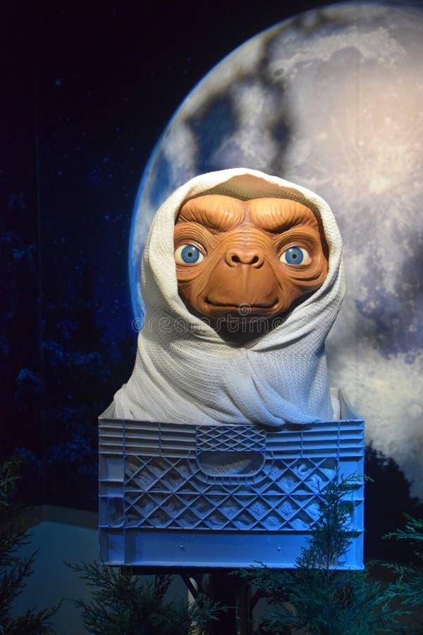 e T o extraterrestre fotografia de stock