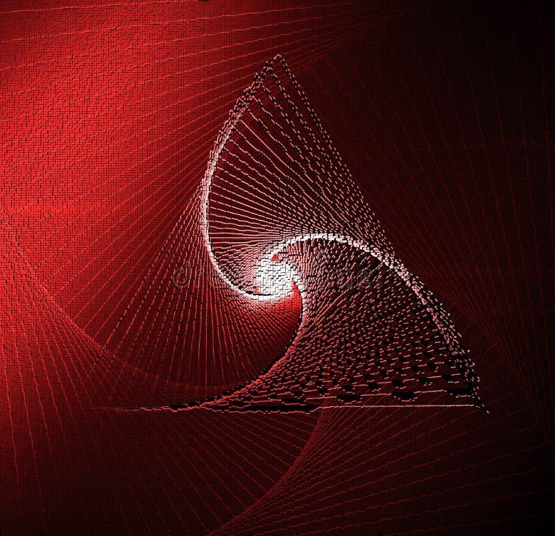 E Teknikkubikkonst, PIXELkonst r 3d royaltyfria foton