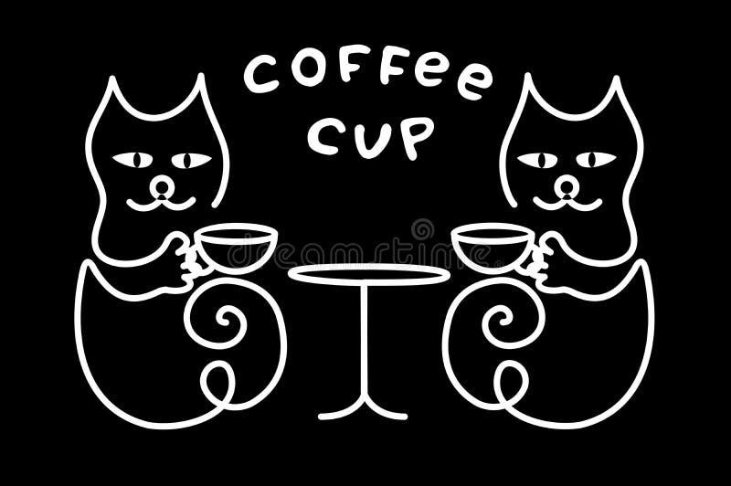 E Texto - taza de caf? ilustración del vector