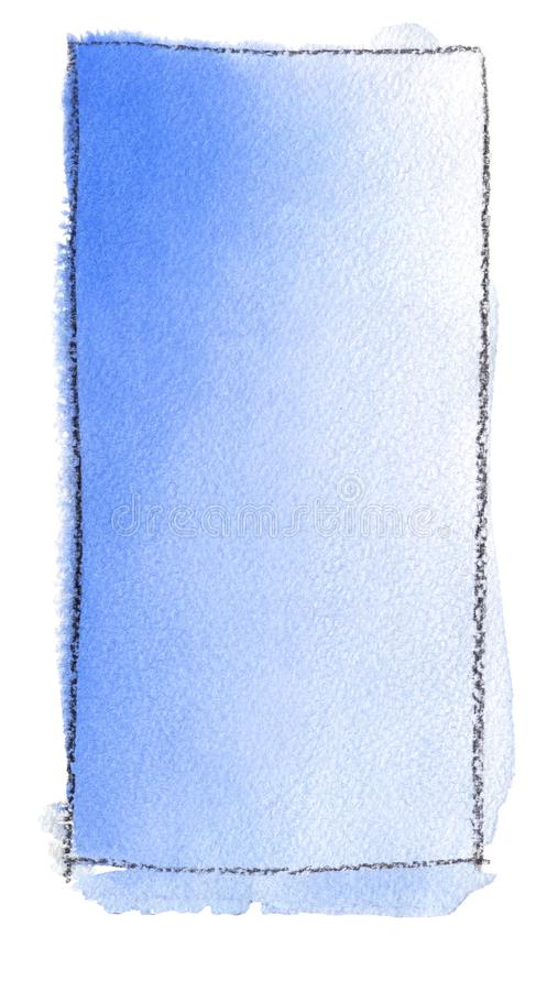 E Textura del papel de la acuarela Un rect?ngulo vertical limit? por una l?nea de libre illustration