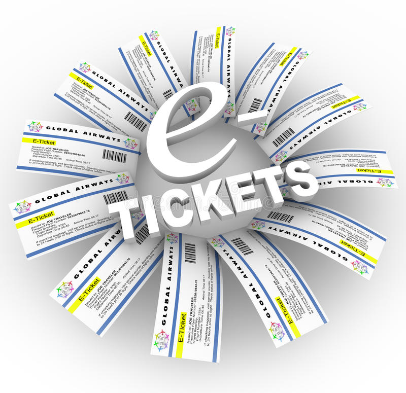 Download E-Tickets Word Ring stock illustration. Illustration of passes - 14634741
