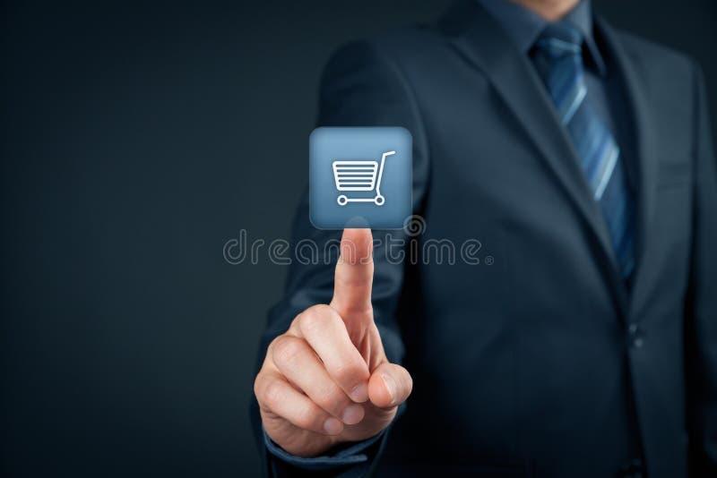 E-tienda foto de archivo libre de regalías