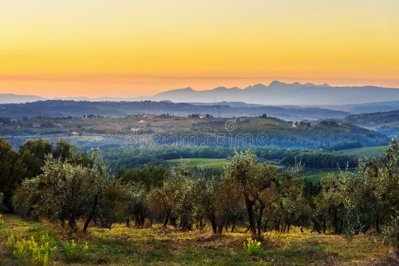 E tuscany l'Italie images libres de droits