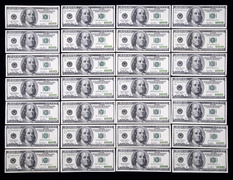 E.U. cem dólares foto de stock
