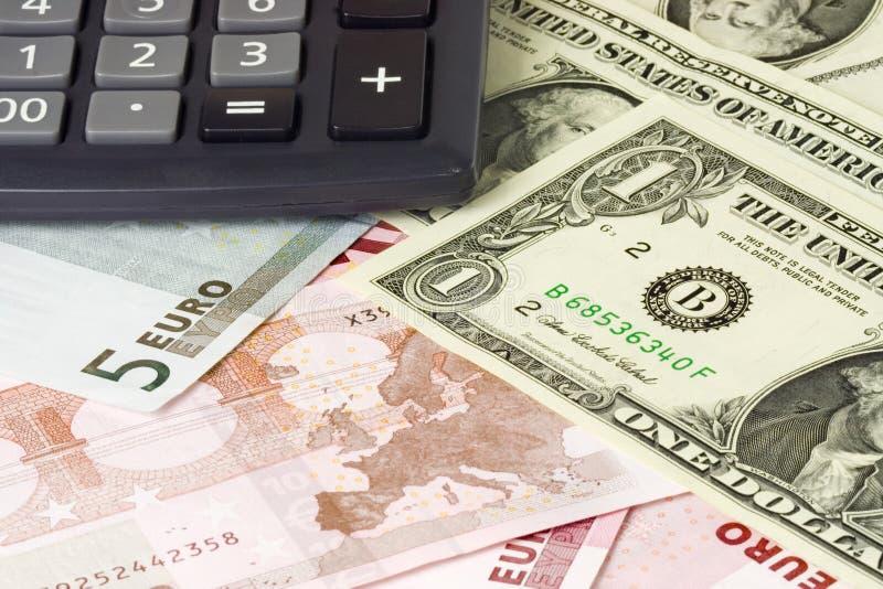 E.U. e euro- pares da moeda imagem de stock