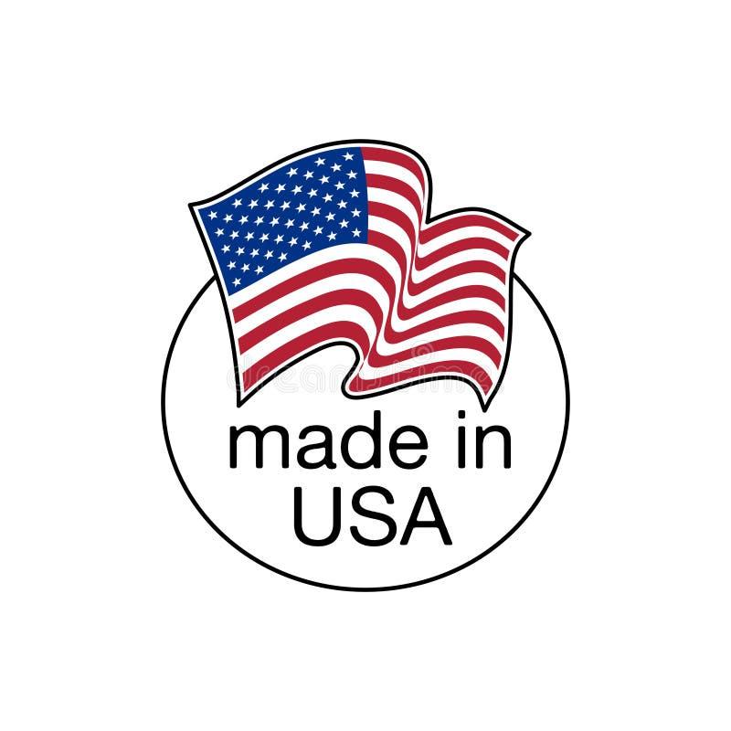 E.U. feitos Feito no selo do Estados Unidos da Am?rica Ilustra??o do selo do vetor ilustração stock