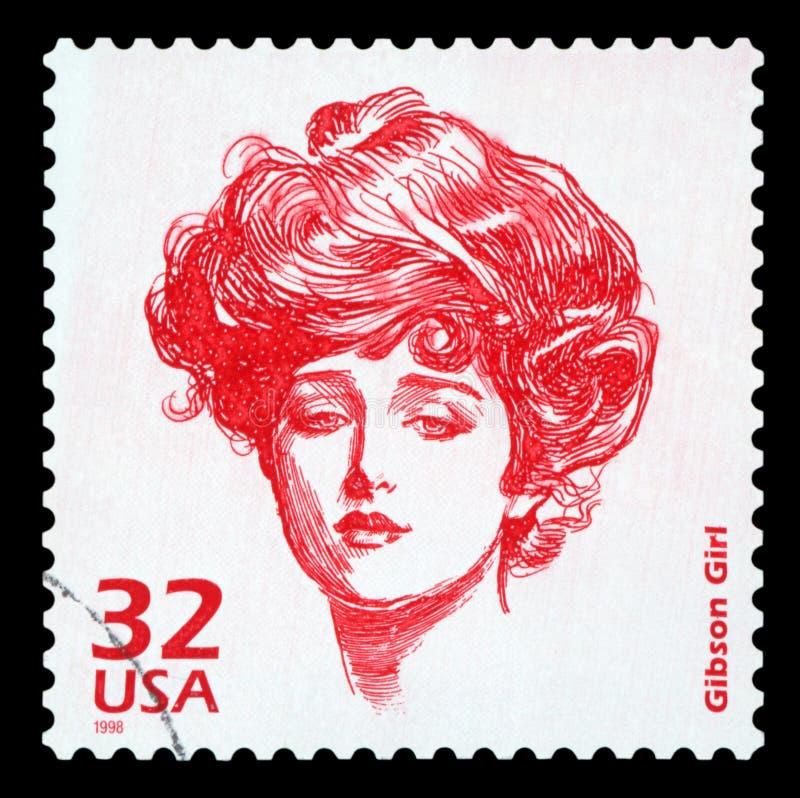 E.U. - Selo postal imagem de stock
