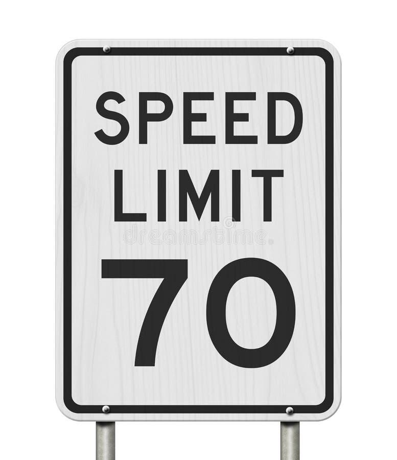 E.U. sinal do limite de velocidade de 70 mph ilustração stock