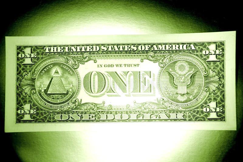 E.U. um dólar fotografia de stock royalty free