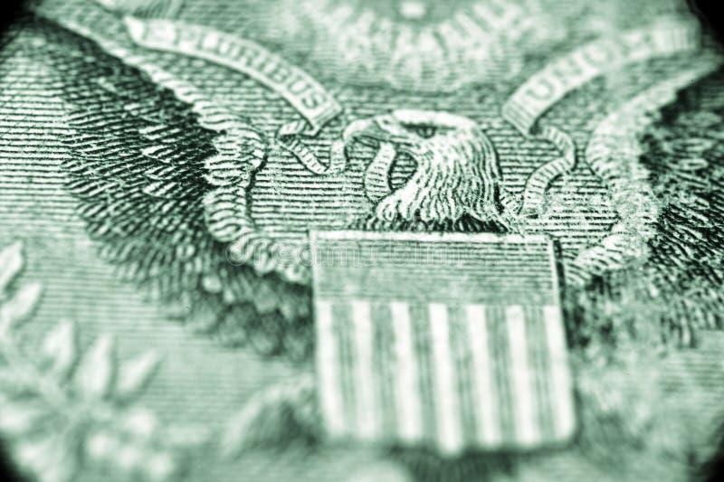 E.U. um macro do dólar imagens de stock royalty free